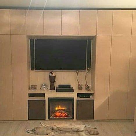 Камин в интерьере гостиной: 75 фото примеров дизайна | 468x468