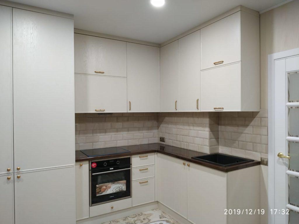кухня белый дуб
