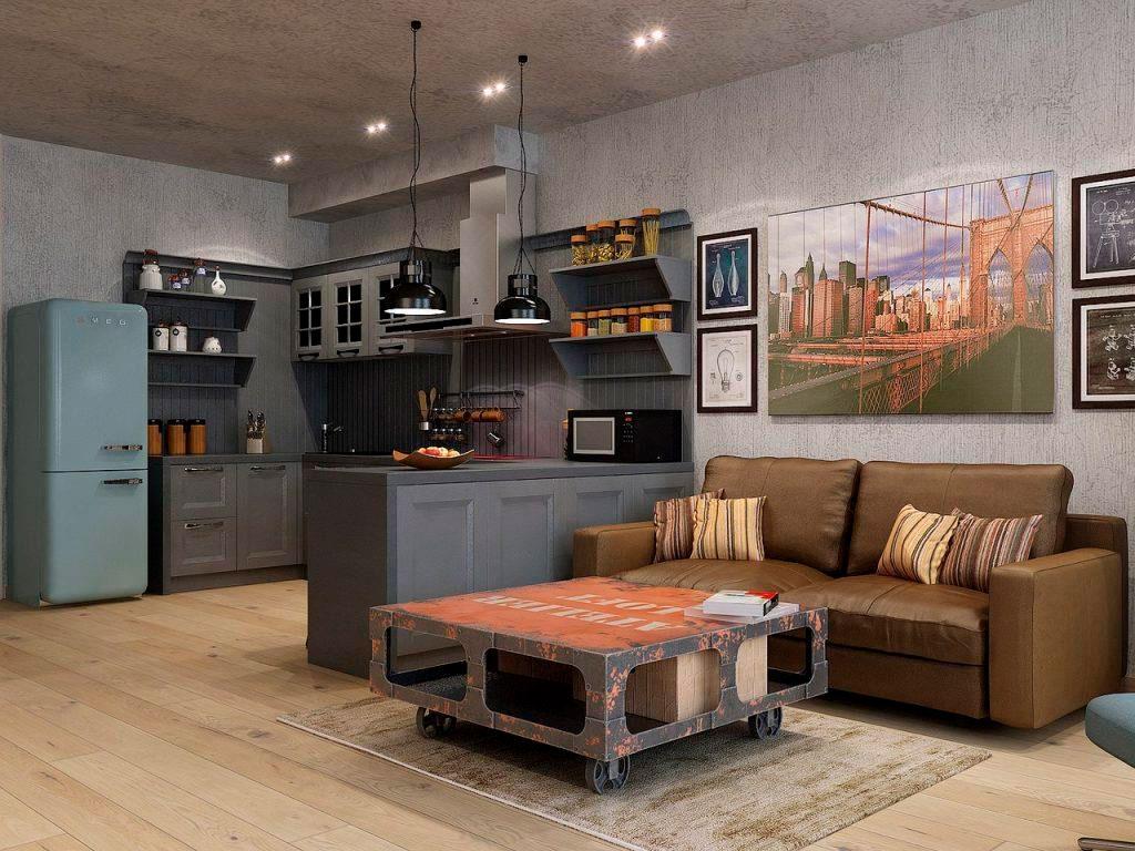 кухня Лофт в квартире студии
