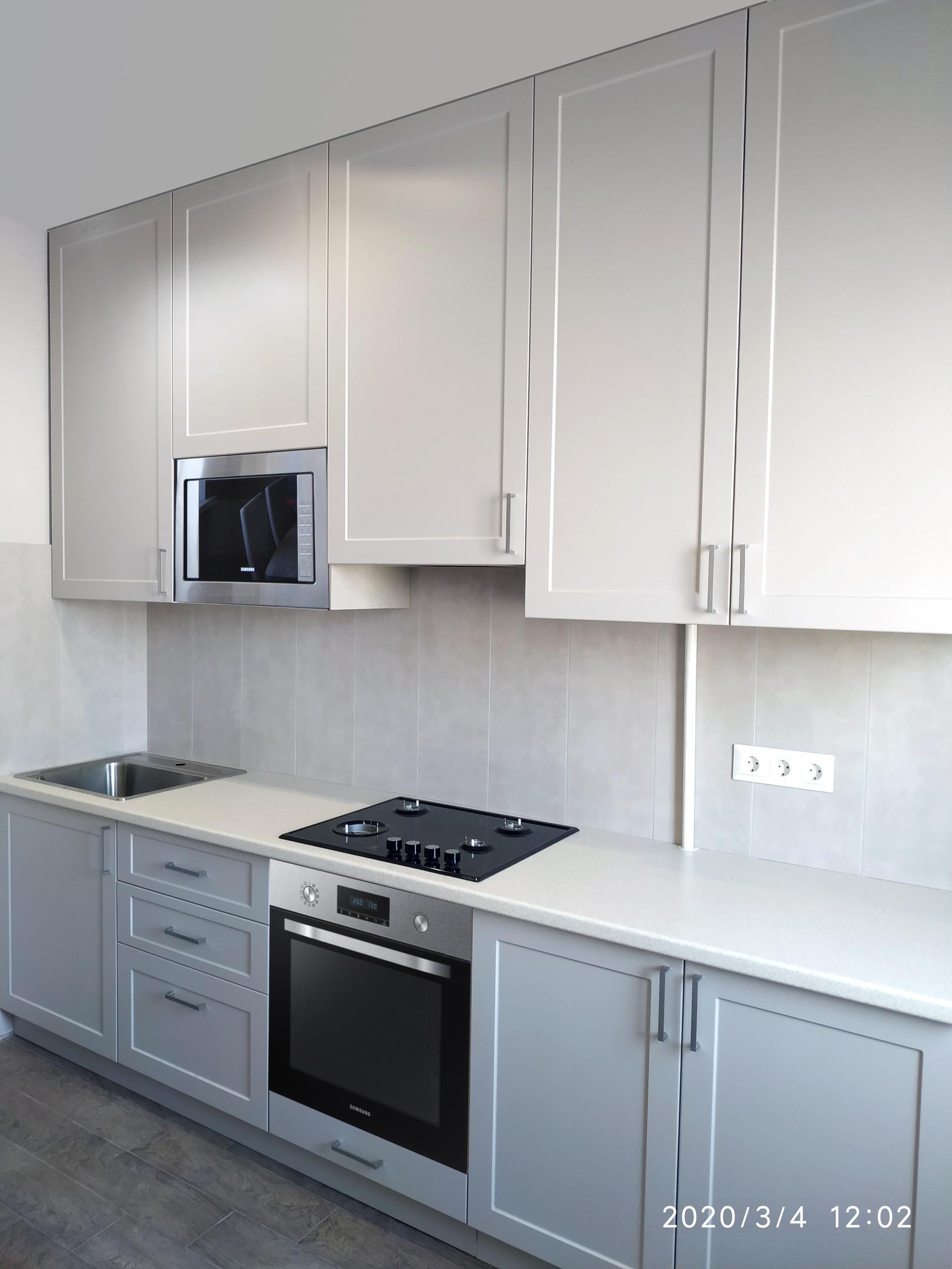 кухня белый верх темный низ