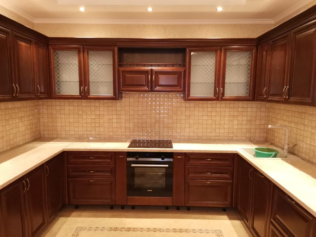 кухонная мебель из массива дерева
