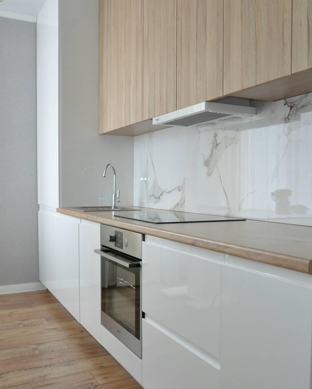 современная прямая кухня